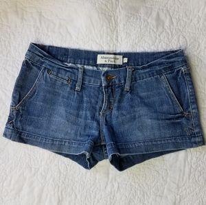 Abercrombie & Fitch Stretch Denim Jean Shorts 2